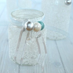 DIY Wintry Epsom Salt Jars