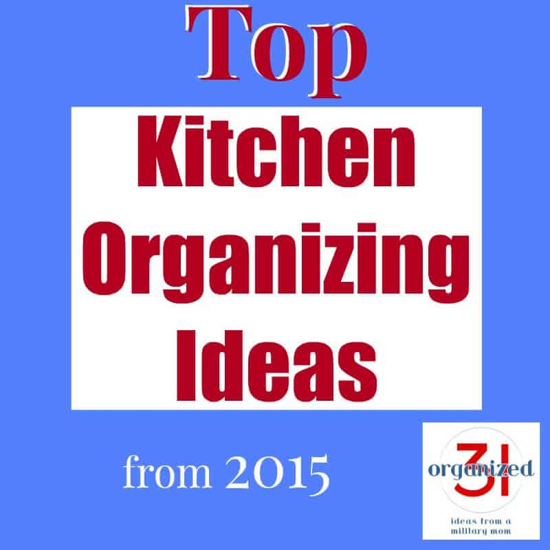 "Square with text ""kitchen organizing ideas"""