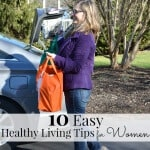 You can fit these easy healthy living tips for women into your busy everyday routine. #NourishWhatMatters [ad]