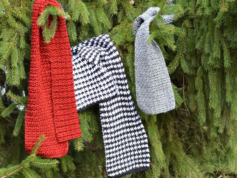 Easy Houndstooth Crochet Pattern Scarf - Organized 31
