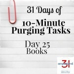 Day 25 Purging Tips – Books