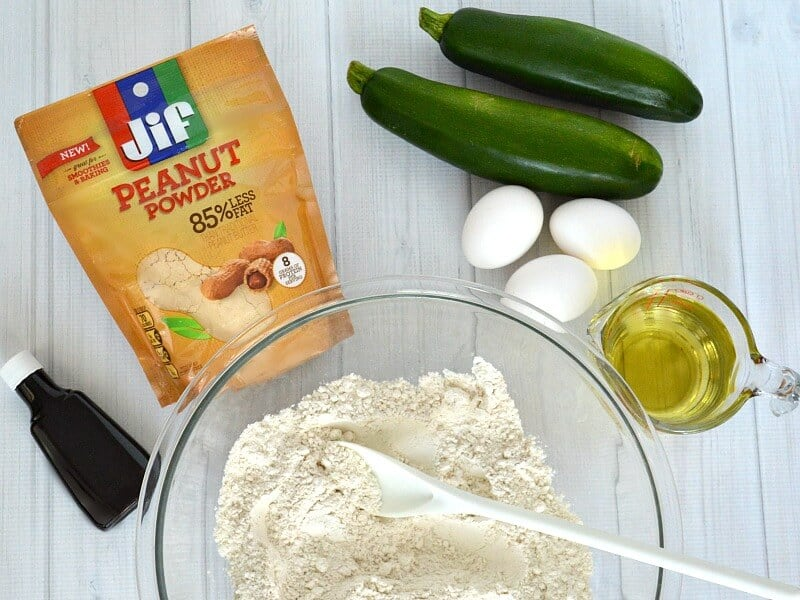 Make this easy and delicious Protein Zucchini bread for breakfast or a snack. #StartWithJifPowder [ad]