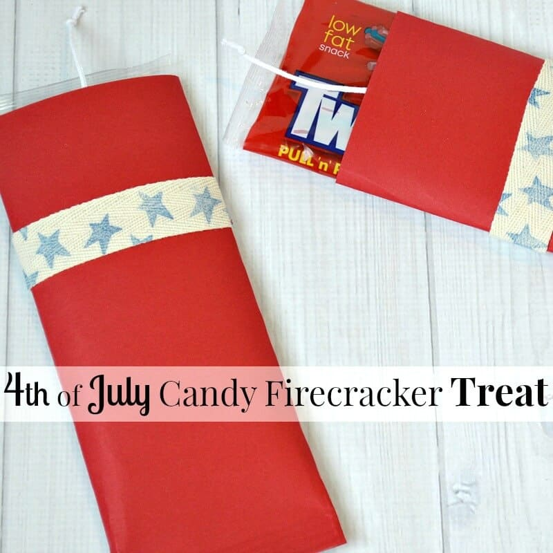 Make these easy 4th of July Treats for Kids in minutes. They're cute candy firecracker treats that are perfect for a patriotic party or celebration. | Organized 31