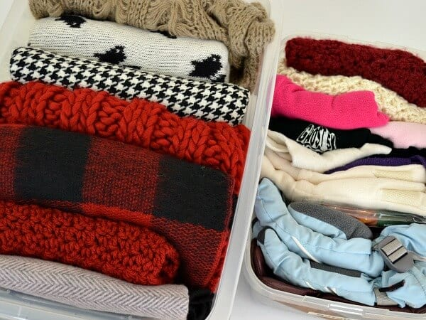 Use these simple kids organization ideas to make room in your closet and organize your children's hats, gloves and scarves.