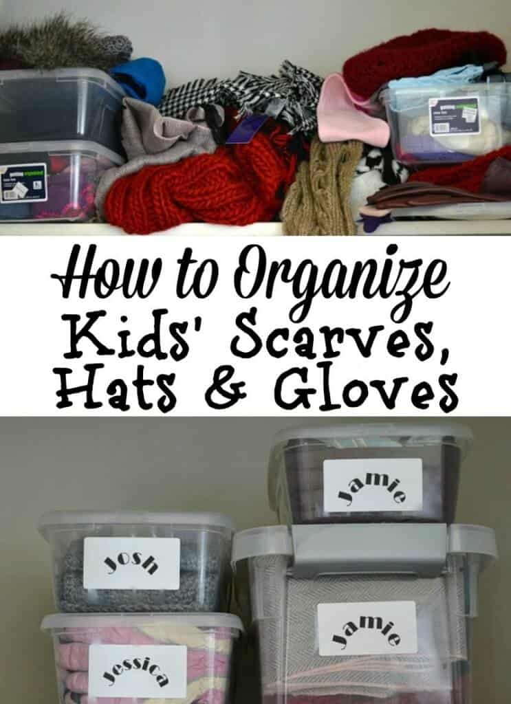 Use these 8 tips and kids organization ideas for hats, gloves and scarves to make your mornings stress-free and organized. These tips are easy to do in 15 minutes.