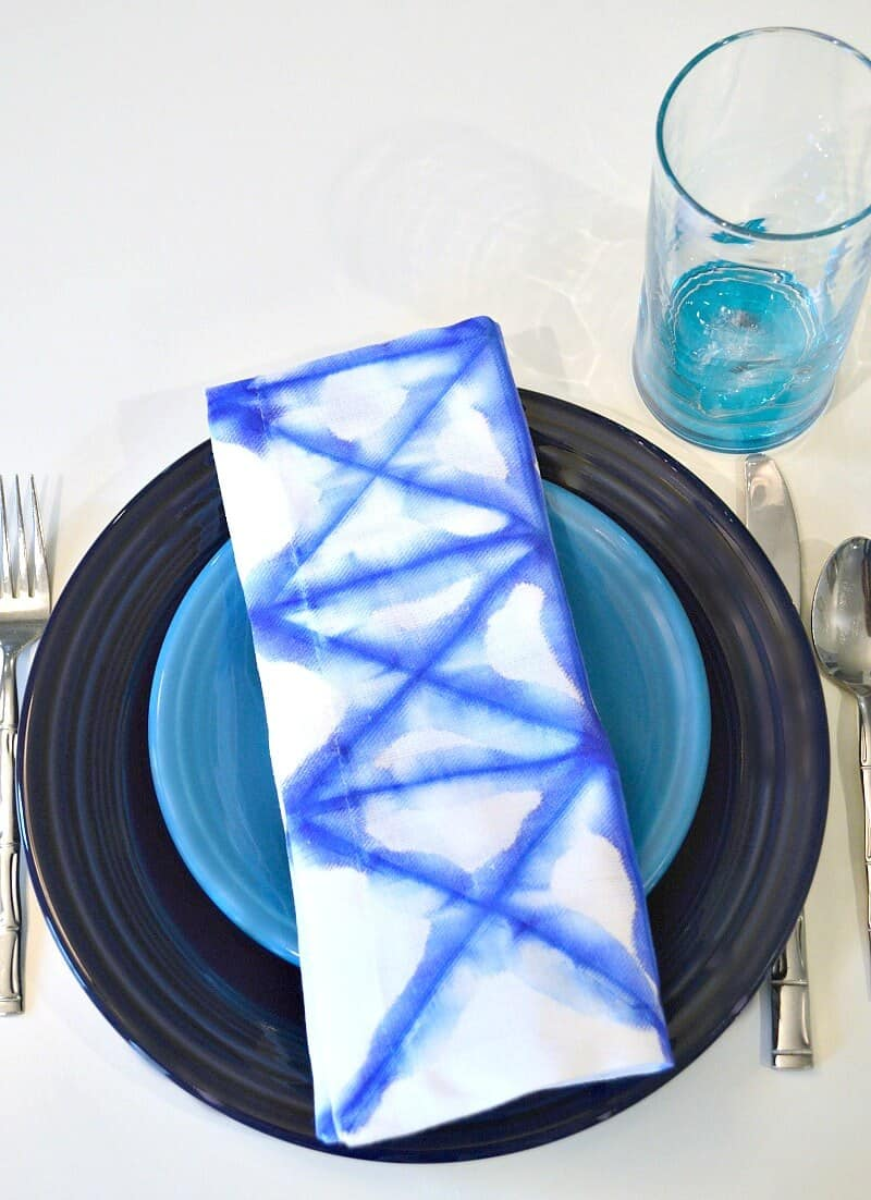 Blue and White Napkins v