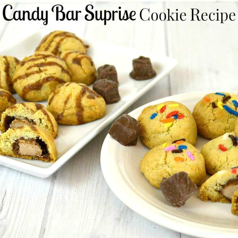 Make this delicious candy bar cookie recipe with your favorite candy bar surprise inside.