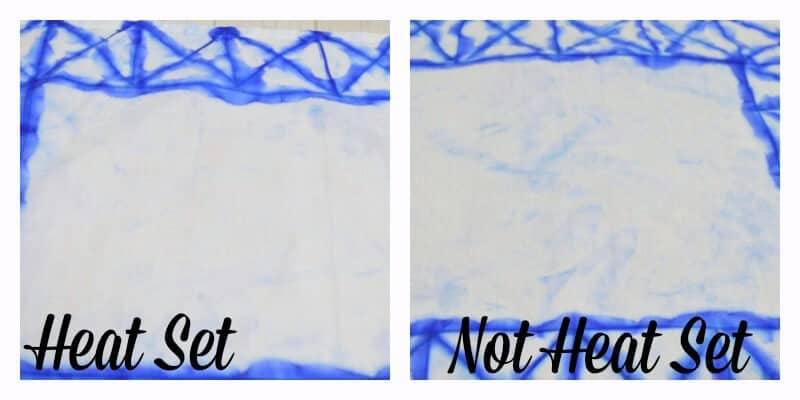 Make these blue and white Japanese Tie Dye Shibori Napkins using this faux Sharpie tie dye technique. | Organized 31