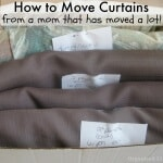 How to Fold Curtains and Organize for a Move