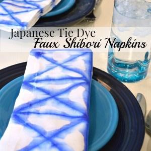 Japanese Tie Dye Shibori Napkins