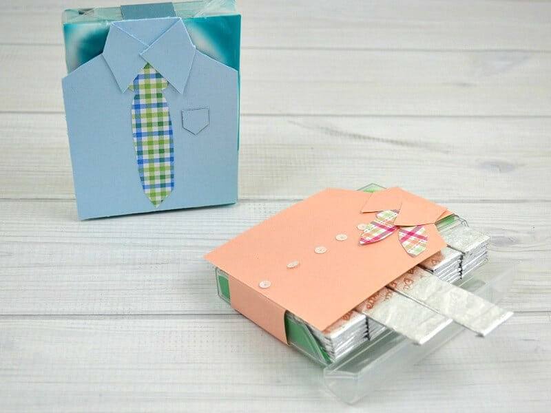 "Make a diy craft to give as ""just because"" small gift ideas. These decorated gum packages are fun to give as gifts to coworkers, teachers and friends. They're also perfect kids' crafts for Mother's Day and Father's Day."