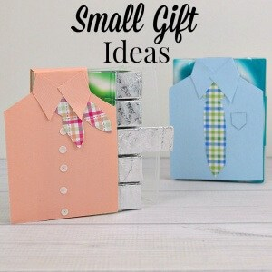 2 packs  of gum decorated to look like a pink blouse and a blue shirt with tie