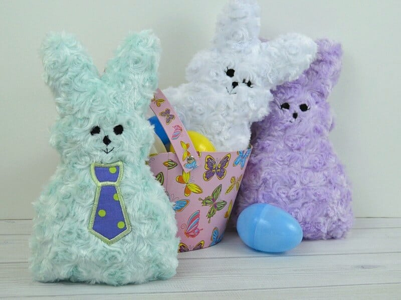 These adorable plush marshmallow stuffed bunnies are perfect for Easter, baby gifts and children of all ages.