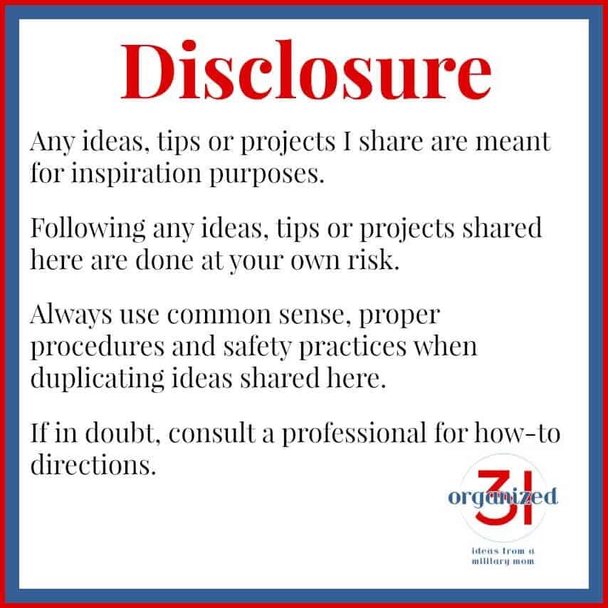 Organized 31 Disclosure