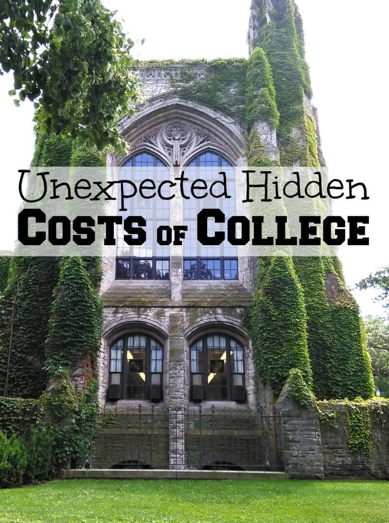 ivy covered stone college building with text overlay