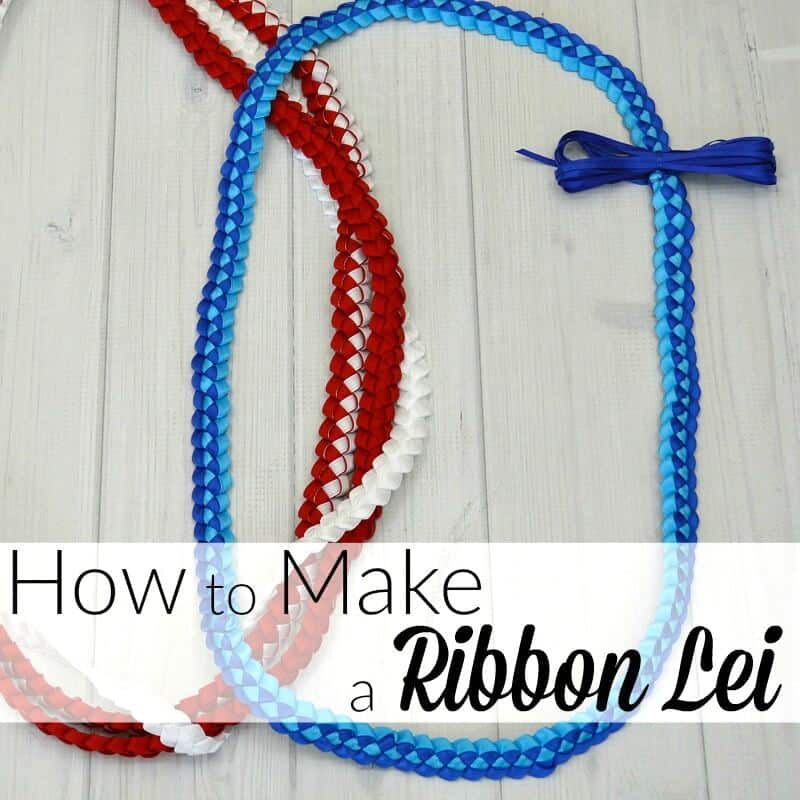 Easy to tutorial to make a ribbon lei in about 30 minutes. Hawaiian ribbon leis are traditional made for graduation in the graduate's school colors.