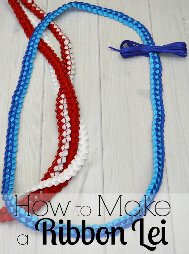 How to make a ribbon lei tutorial for graduation in 30 minutes easy to tutorial to make a ribbon lei in about 30 minutes hawaiian ribbon leis izmirmasajfo
