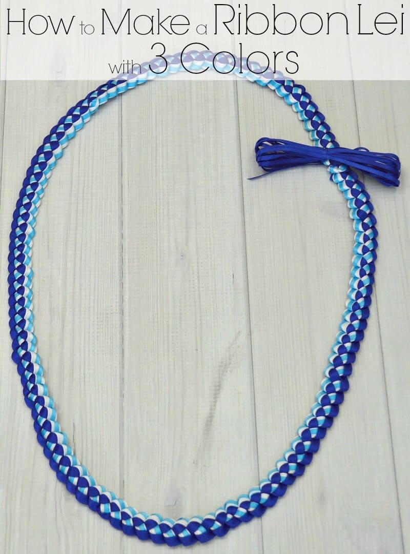 How to make a ribbon lei with 3 colors organized 31 how to make a ribbon lei with 3 colors in about 30 minutes hawaiian ribbon izmirmasajfo