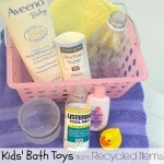 Kids' Bath Toys from Recycled Items