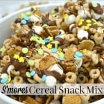 Make this easy-to-make S'mores Cereal Snack Mix Recipe that is perfect for all ages and my family's favorite snack for when we're moving and traveling. Give the gift of Cheerios™ and memories. #GiveABox [ad] | Organized 31