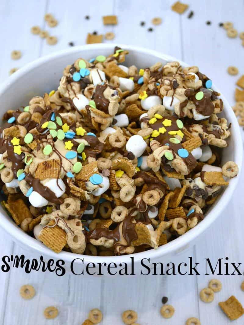 Give the gift of cheerios and memories cereal snack mix recipe make this easy to make smores cereal snack mix recipe that is ccuart