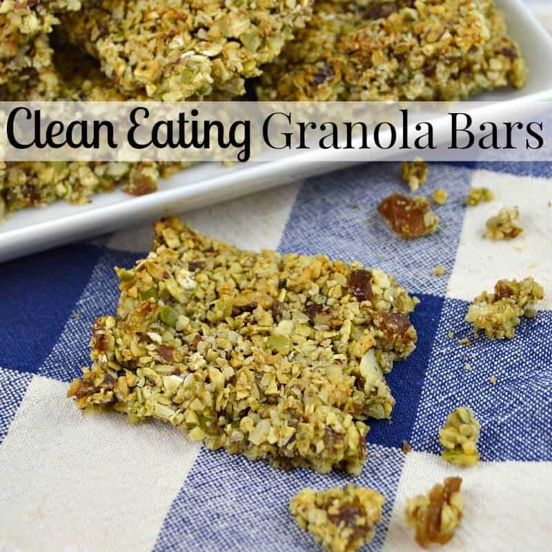 An easy-to-make clean eating granola bars recipe for breakfast or snacks. This recipe is great for new to clean eating fans and long-time clean eating fans.
