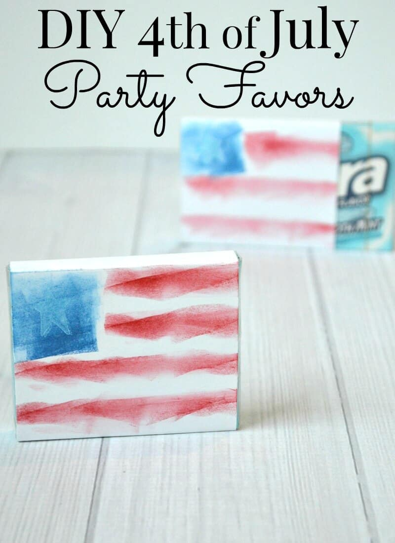 Make these DIY 4th of July favors in minutes and for less than a dollar. These party favors are perfect for any patriotic party or get together.