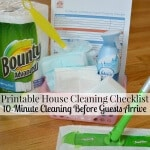 Printable House Cleaning Checklist (10 minutes before guests arrive)