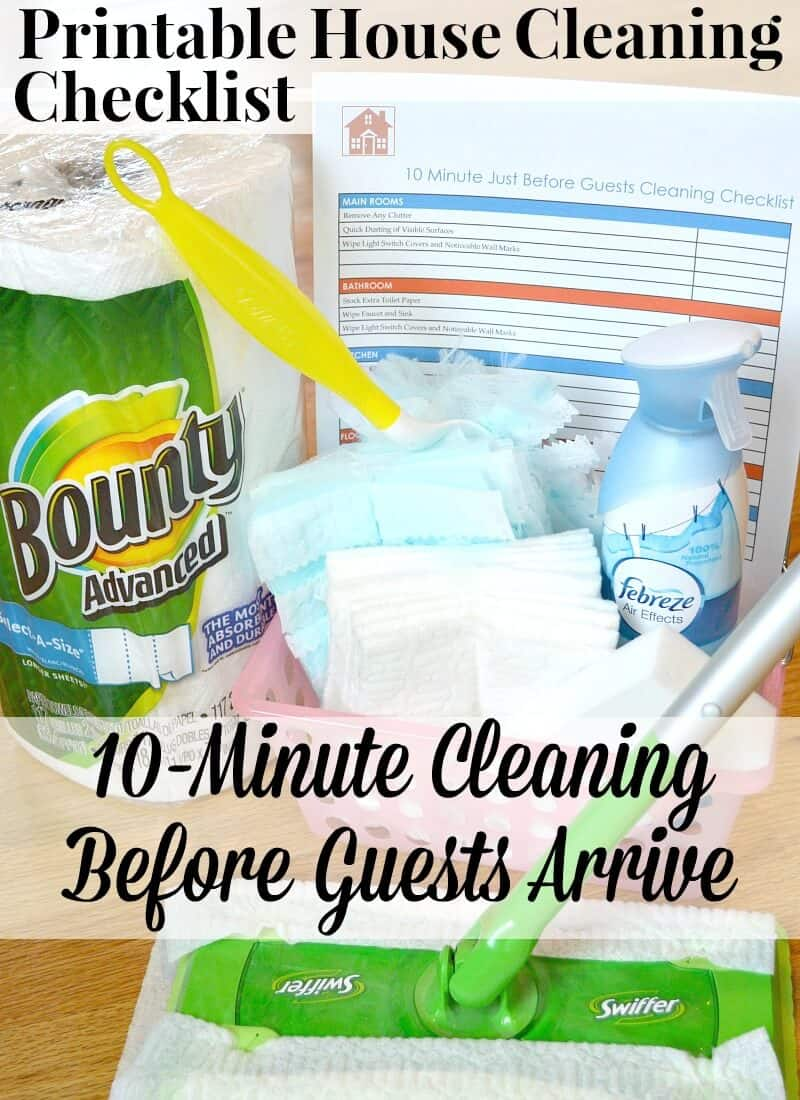 Free Printable House Cleaning Checklist for a quick 10-minute clean up before guests arrive. #PGDetailsMatter #IC [ad] | Organized 31