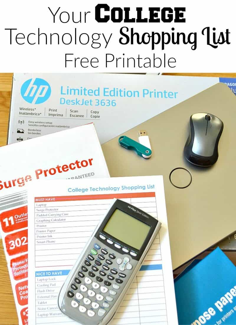 All the must-have and nice-to-have items are on this free printable College Technology Shopping List developed from my experience sending two children back-to-college. #CreatewithHP [ad]