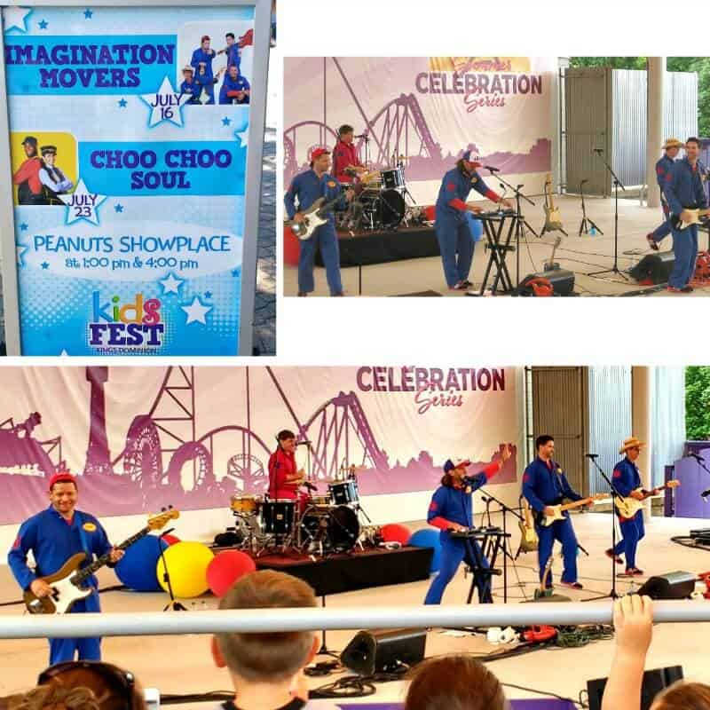 collage of music concert for kids