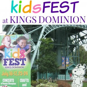 Celebrate with the second annual KidsFest at Kings Dominion for kids of all ages. KidsFest is a celebration of all things kids-related with concerts, crafts, activities and shows. Visit Planet Snoopy July 16-17 & 23-24, 2016 for KidsFest. #KDFirstTimer [sponsored]