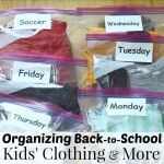 Taking a few minutes each week for organizing back-to-school kids' clothing will make the mornings run smoothly and encourage your child's independence. #ZiplocBackToSchool [ad]