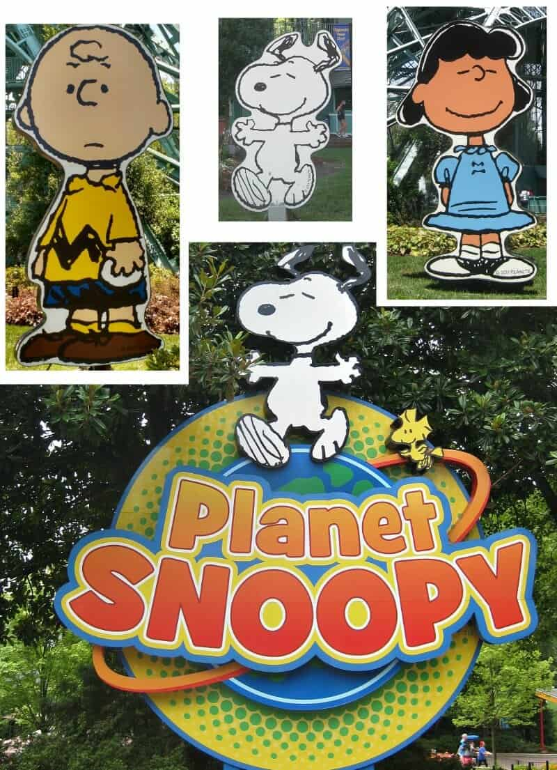 collage of 4 Snoopy and Peanuts images