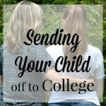 Sending your child off to college is just as difficult as leaving your baby when you deploy. You can celebrate the milestone and prepare for the separation by making memories together. #ShareYourMiracles [ad]