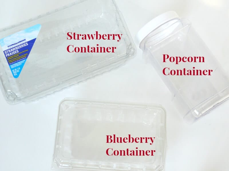 3 clear repurposed containers