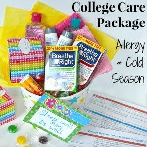 College Care Package Idea – Allergy & Cold Season
