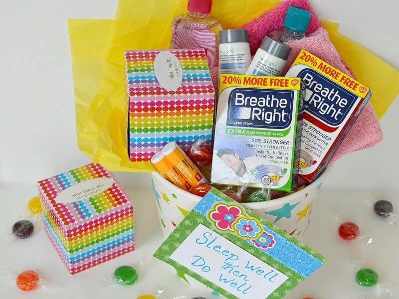 A fun college care package idea for allergy & cold season. #TomorrowStartsTonight [ad]
