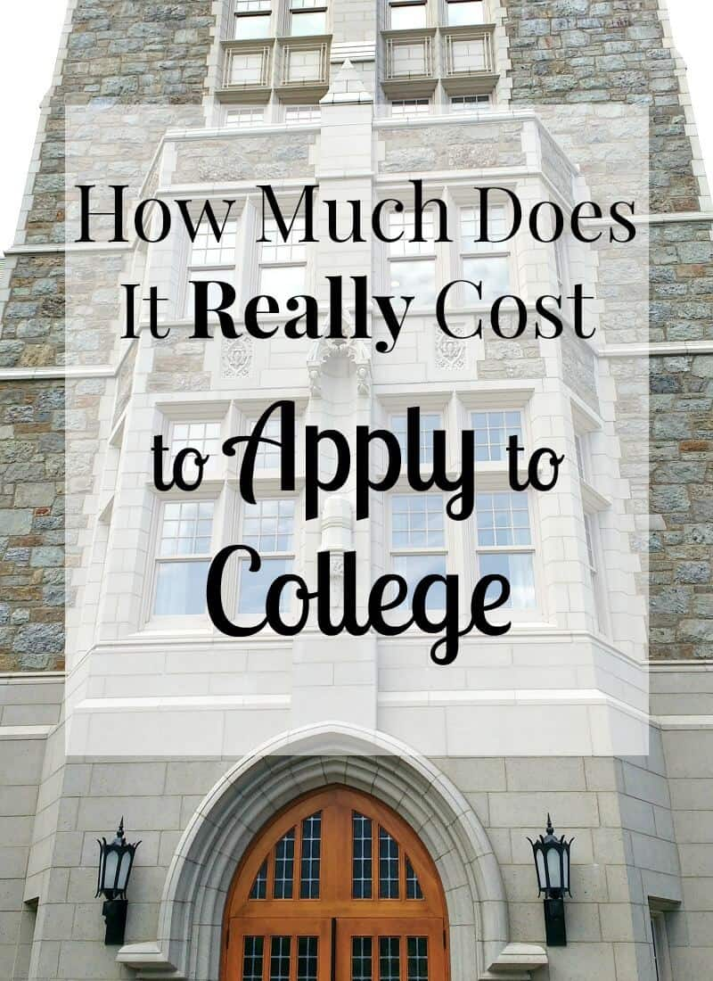 How Much Does it Cost to Apply to College? Here's what I've found from sending two children to college.