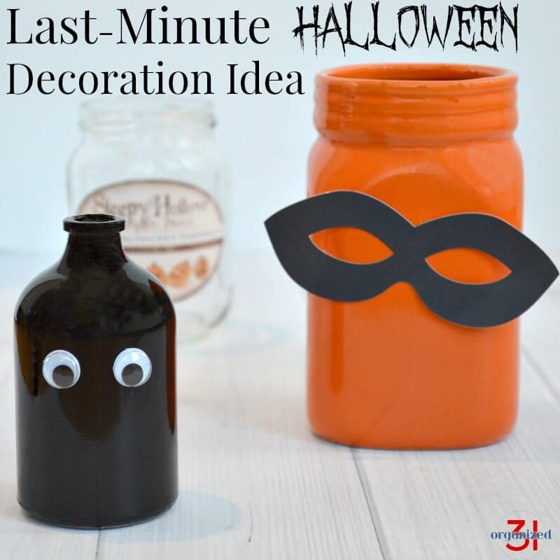 You can make this last-minute Halloween idea decoration in minutes after one quick trip to the store.
