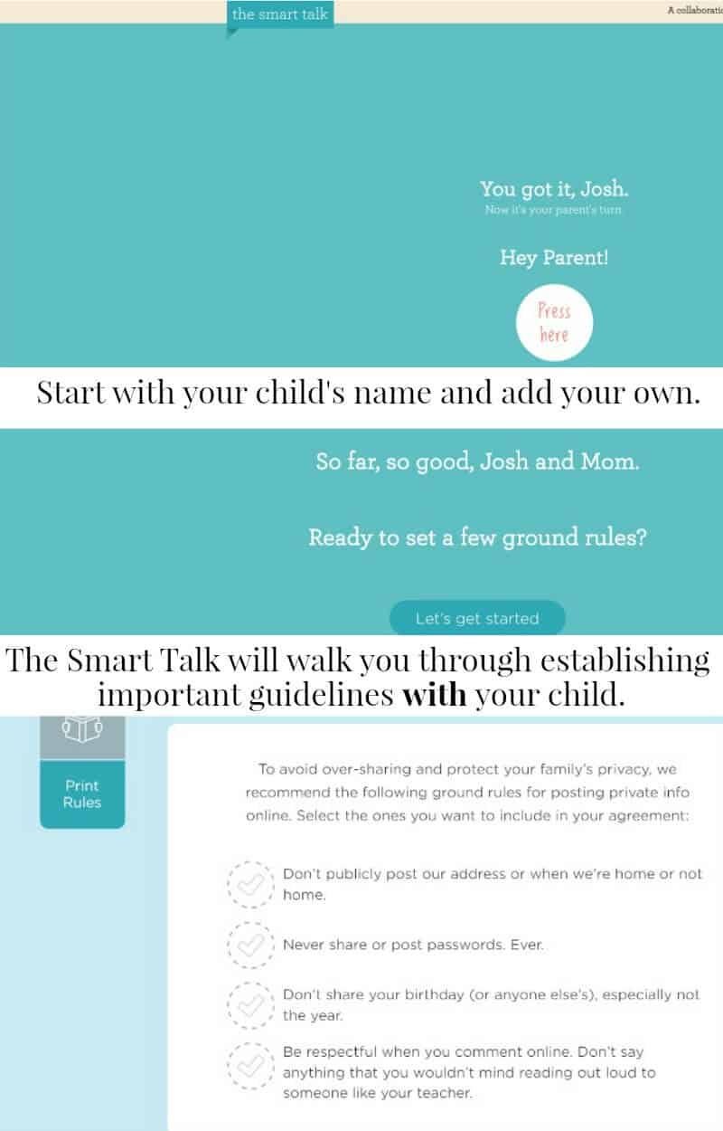 info graphic in teal and blue about Smart Talk program