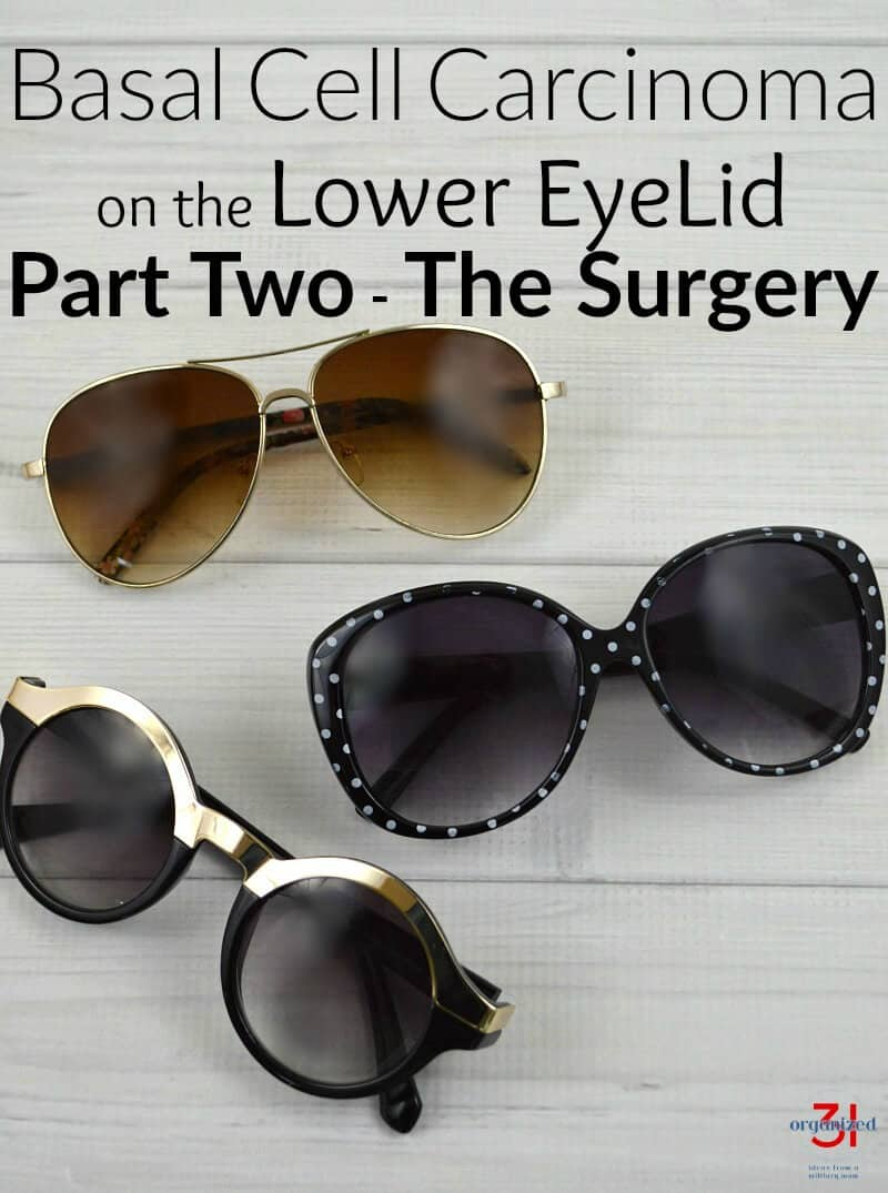 My experience and what I learned from basal cell carcinoma on the lower eyelid - the surgery and oculoplasty reconstructive surgery.