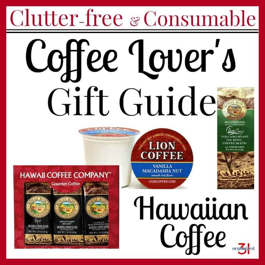 collage of images of coffee gifts