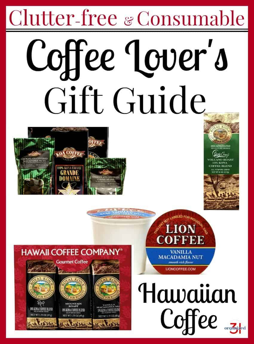 four images of coffee gifts