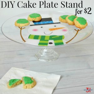 DIY Cake Plate Stand