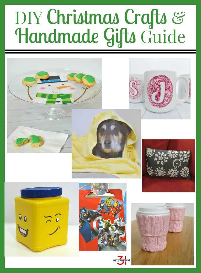 A collection of homemade gifts any skill level can make in the DIY Christmas Crafts and Handmade Gift Guide that's sure to please everyone on your gift list.
