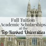 Full-Tuition Academic Scholarships