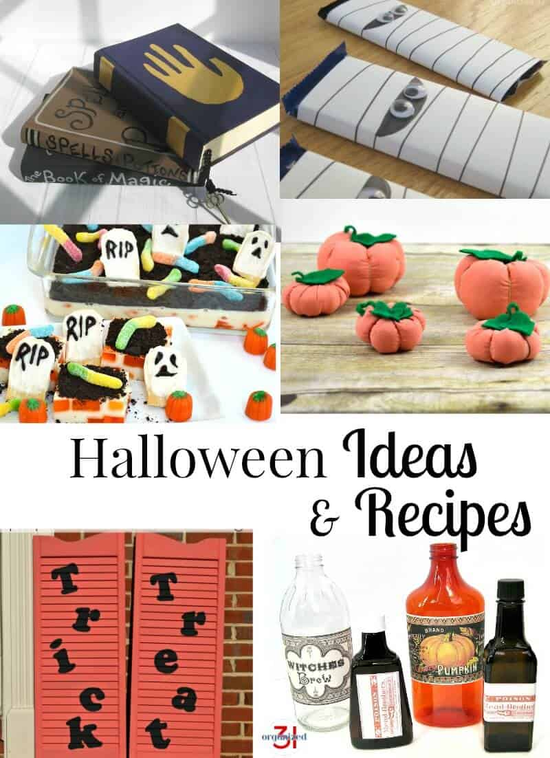 Have fun celebrating Halloween with these simple ideas, recipes and costumes.