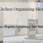 Kitchen organizing ideas that you can do today. There are even free ideas for an organized kitchen.