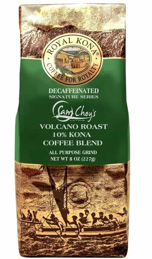 green and fold bag of coffee